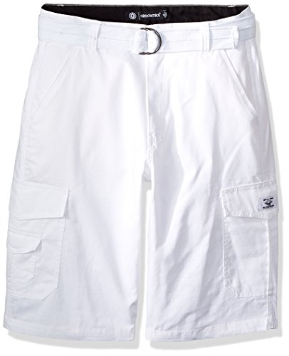 Akademiks Men's Cargo Shorts, Belted White, 42 by Akademiks