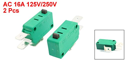 uxcell a14032200ux0036 AC 16A 125V//250V Push Button Actuator Micro Limit Switch KW3-0Z Pack of 2