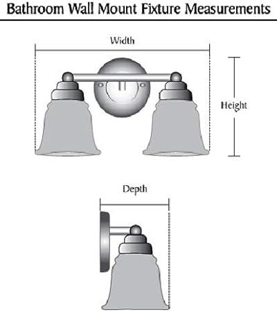 Aspen Creative 62175 12 Wide Two Metal Bathroom Light Fixture Transitional Design in Bronze Vanity Wall