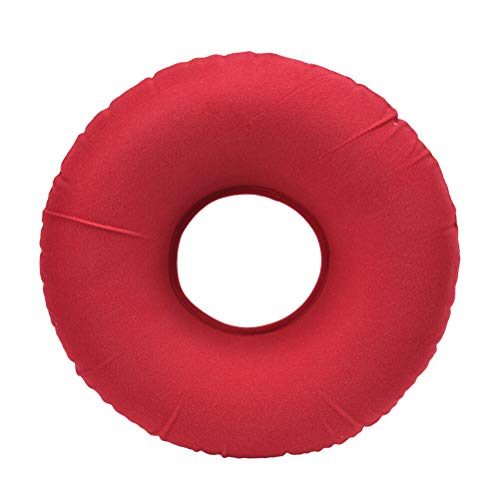 (Cushion - Inflatable Plush Cushion Fabric Pvc Round Vinyl Seat Medical Hemorrhoid Pillow Sitting Donut - W201 Travel Bathtubs Hemorrhoid Cushion Large Cusion Foam Machin Fate Pillow Seat Firm D)