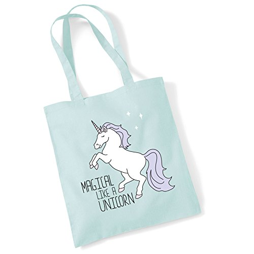 Unicorn Tote Women Cotton Gifts Bags Magical Printed Shopper For Bag a Pmint Like YFYrqcW