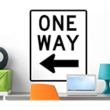 One Way to Left Wall Decal by Wallmonkeys Peel and Stick Graphic (24 in H x 19 in W) WM104976