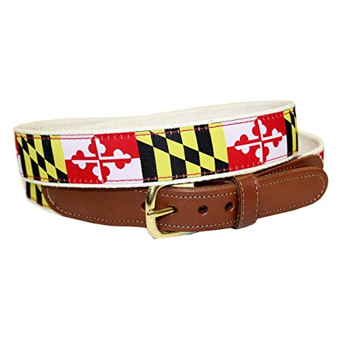 Route One Apparel | Maryland Flag Belt for Men -