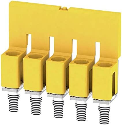5 Poles 1053960000 Direct Mounting 32A Cross Connector For Use With W Series Terminal Blocks, Pack of 10 5.1mm