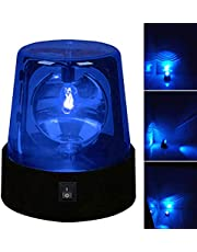 LED Strobe Light, Disco Lights, Party Rotating Lamp DJ Flashing Stage Lights, 360 Degree Police Car Siren Strobe Light, for Home Parties Birthday Bar Wedding Show Club