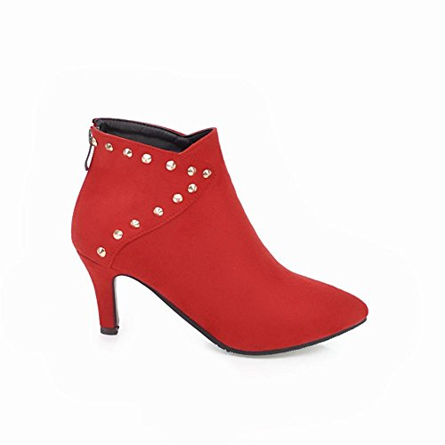 Booties Red Toe Pointed Latasa Rivets Women's Dress PxqpAaTw