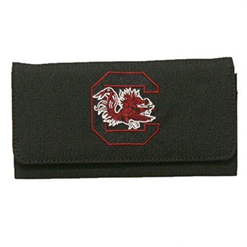 (Sandol South Carolina Gamecocks Black Jacquard Fabric Ladies Wallet)