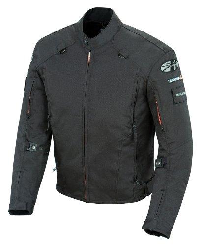Joe Rocket Recon Military Spec Men's Textile On-Road Motorcycle Jacket - Black / X-Large (Joe Rocket Leather Vest)