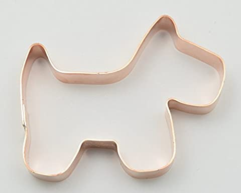 Small Simple Primitive Dog Cookie Cutter - Scottie Dog Art