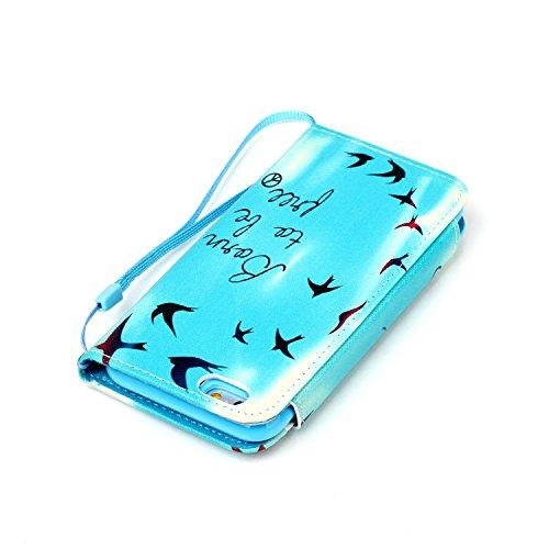 "MOONCASE iPhone 6 Case PU Leder Wallet Tasche Flip Etui Case Cover 2 in 1 abnehmbarer weicher TPU Innen Schale für iPhone 6 (4.7"") -FT10"