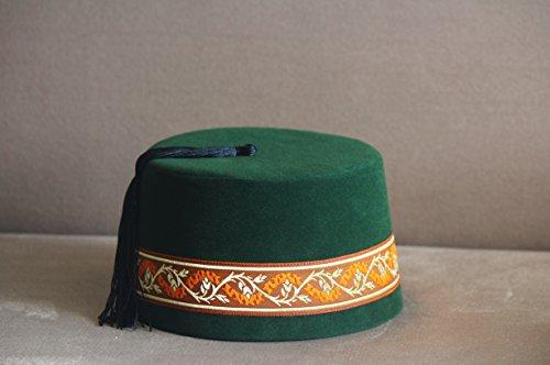 Velvet Felt Fez Hat Shriner Turkish Casablanca Moroccan Cap Costume Accessory by woodenart