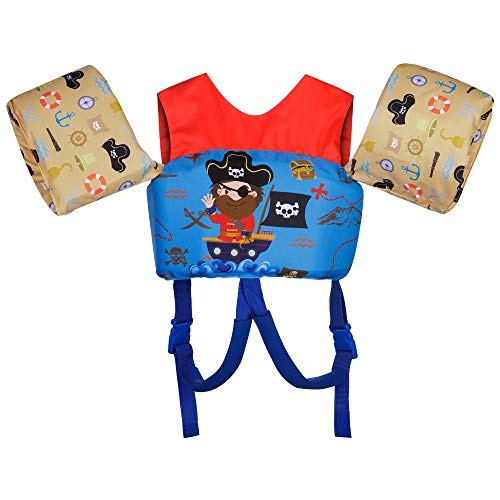 OXSNice Kids Swim Vest Water Floats Swimming Paddle Learn to Swim Pool Life Jacket from 30 to 50lbs with Cross Belt for Baby Toddler