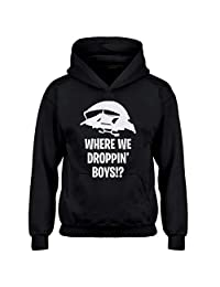 Indica Plateau Youth Where we Droppin' Boys?! Kids Hoodie
