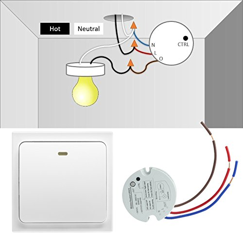 Crelander Wireless Light Switch No Wiring No Battery