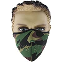 L-FENG-UK Skull Half Face Mask Breathable Face Shield Guards For Snowboard Ski Cycling Motorcycle (Size-D)