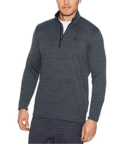 (Champion Men's Premium Performance Fleece Quarter-Zip Pullover, Stealth Heather/Black, Small)
