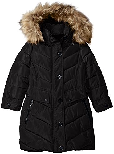 Little Girls Coat (Weatherproof Little Girls' Outerwear Jacket (More Styles Available), Long Bubble-WG160-Black, 5/6)