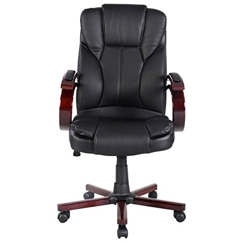 Tangkula Pu Leather Ergonomic Desk Task Office Chair High Ba