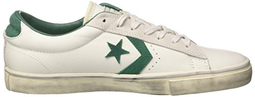 Converse Herren Pro Vulc Ox Distressed Gymnastikschuhe Elfenbein (White Dust/a.green/mouse)