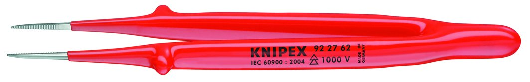 Knipex 7665070010 Pinza Totalmente aislada, Rojo y Plata, 150 mm 92 27 62