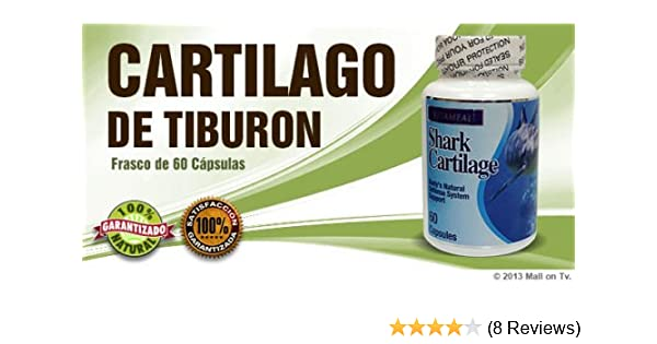 Amazon.com: Shark Cartilage (60-caps) Cartilago de Tiburon glucosamina dieta huesos Health: Health & Personal Care