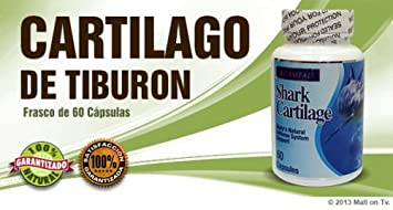 Shark Cartilage (60-caps) Cartilago de Tiburon glucosamina dieta huesos Health
