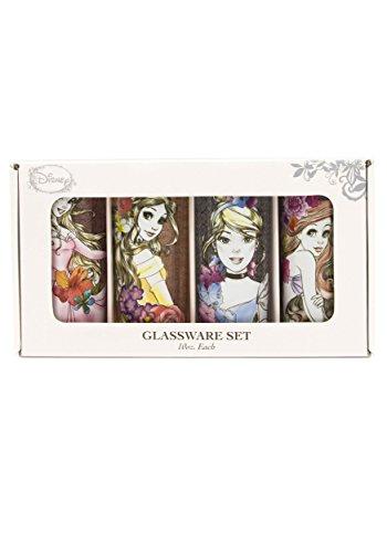 Silver Buffalo DP110661 Disney's Fashionista Princess Floral Tumbler Glass Set (4 Pack), Multicolor Review