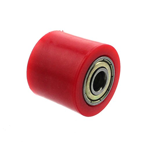 XLJOY 5 pcs 8mm Rubber Chain Roller Wheel Tensioner Pulley For Chinese Pit Dirt Bike 50cc-160cc(Red) by XLJOY (Image #4)