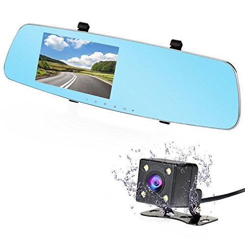 NEXGADGET Dash Cam, 5.0' 170° Wide Angle Full HD 1080P Dual Car Camera Video Recorder for Vehicles Front and Rear Mirror DVR with Parking Mode G Sesor