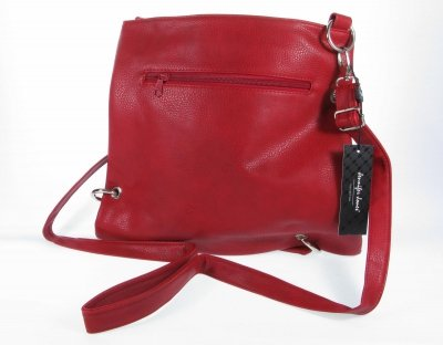 zweigeteilt Damenumhängetasche #3091 Handtasche Ösen modisch rot