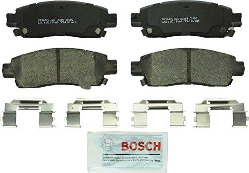 Bosch BC883 QuietCast Premium Ceramic Disc Brake Pad Set For Select Buick Enclave, Rainier; Cadillac XTS; Chevrolet SSR, Trailblazer, EXT, Traverse; GMC Acadia, Envoy, XL, XUV; Oldsmobile; Saab; Rear