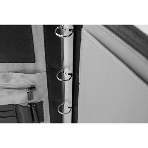 Tuscany Leather - Lucio - porte-document en cuir avec anneaux - Marron foncé