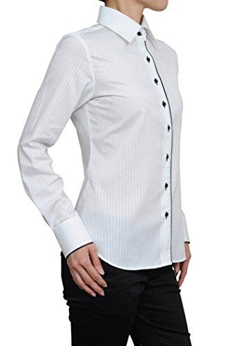 疑い者輝く休眠[オジエ] ozie 【レディースシャツ?ブラウス】ナチュラルフィット?形態安定?ワイドカラー?日本製 ホワイト 白 F06