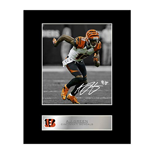iconic pic A. J. Green Signed Mounted Photo Display Cincinnati Bengals #1 Autographed Gift Picture Print