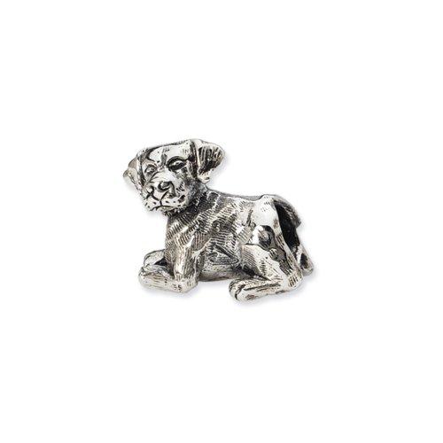 Sterling Silver Labrador Retriever - Sterling Silver Labrador Retriever Bead Charm