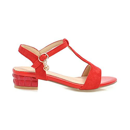 bajo Zapatos de de Tamaño Verano Red Primavera con Tacón de Gruesos y Gran AIKAKA de Sandalias Mujer Zd1wqZO