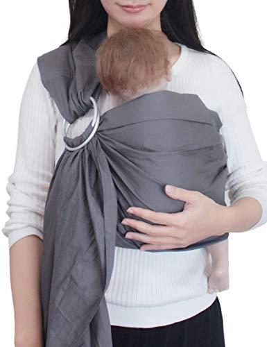 Vlokup Baby Sling Ring Sling Carrier Wrap | Extra Soft Lightweight Cotton Baby Slings for Infant, Toddler, Newborn and Kids | Great Gift, Lightly Padded Adjustable Nursing Cover ()