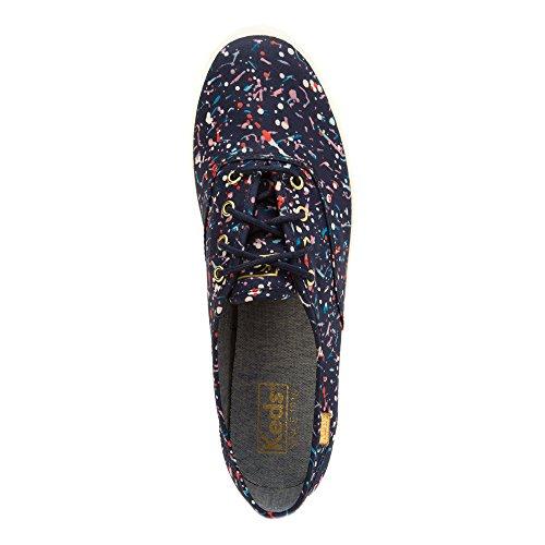 Keds Mujeres Liberty Champion Cotton Tobillo-high Canvas Fashion Sneaker Navy Multi