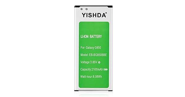 YISHDA Galaxy G850 Bater/ía de Repuesto para Samsung Galaxy Alpha SM-G850 EB-BG850BBU G850T G850F G850H G850M G850W G8508S G8509V