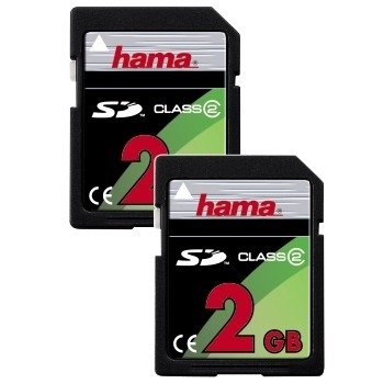 Hama Double Pack SD 2GB Class 2 Memoria Flash - Tarjeta de Memoria ...