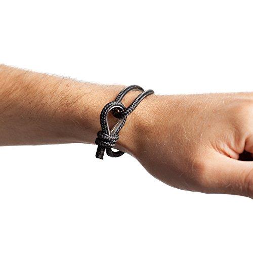 Top Quality Black Rope Nautical Bracelet for Stylish Men Photo #4