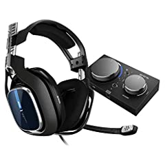 The ASTRO A40 TR Headset + MixAmp Pro TR for PS4, PC and Mac is the premier audio solution for esports athletes, content creators and streamers. It meets esports athletes' rigorous standards for audio fidelity, comfort and durability. The Mix...