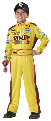 [California Costumes Nascar Kyle Busch Child Costume, Large Plus] (Race Car Driver Kids Costumes)