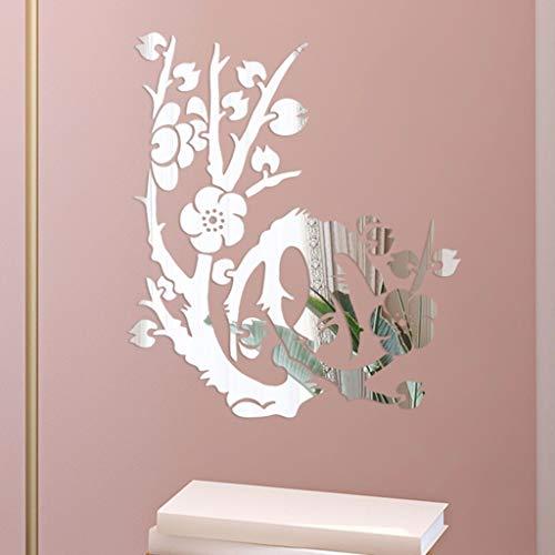 YWLINK 3D DIY Forma De Flor De AcríLico Etiqueta De La Pared Moderna Pegatinas DecoracióN TV Sofa Setting Wall Bedroom Door Fashion Elegant Noble: ...