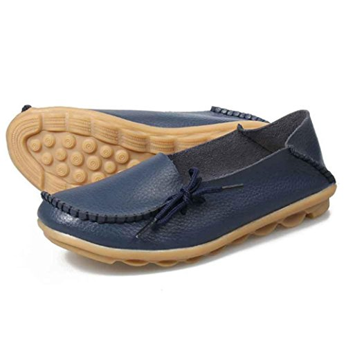 Kaiki Neue Frauen Erbsen Schuhe Krankenschwester Schuhe Freizeit Flache Frauen Beiläufige Schuhe Dark Blue