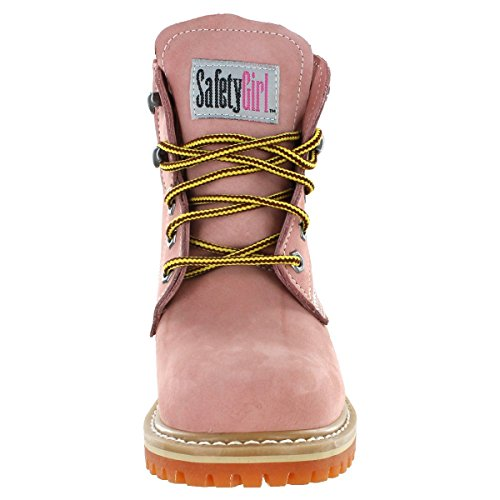 Safety Girl GS004-LTPNK-8M Safety Girl II Soft Toe Work Boots - Pink - 8M, English, Capacity, Volume, Leather, 8M, Pink () by Safety Girl (Image #5)