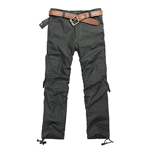 Bassa Da Ragazzi Casual Aderenti Chiusura Vita Grün Cargo A Tasche Classiche Nuova Uomo Multi Pantaloni Jeans Culotte ZxOqwx