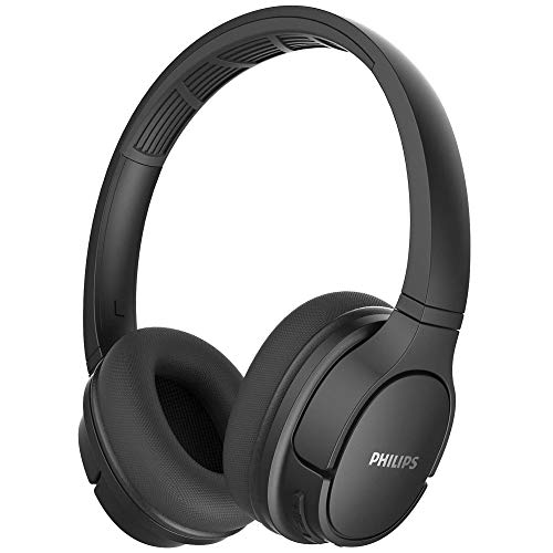 Philips ActionFit Wireless Headphone TASH402 – Bluetooth 5.0 Over Ear Headphones – with Soft Breathable Ear Cushions and Lightweight Headband – 40mm Drivers for Clear Extra Powerful Bass by Philips