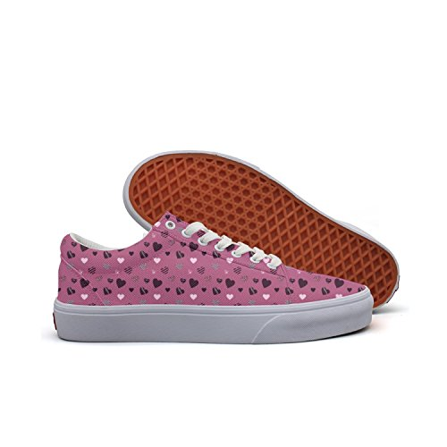Love Knitting Pattern Red Lucky Color 2018 Women Canvas Low Top Canvas Shoes