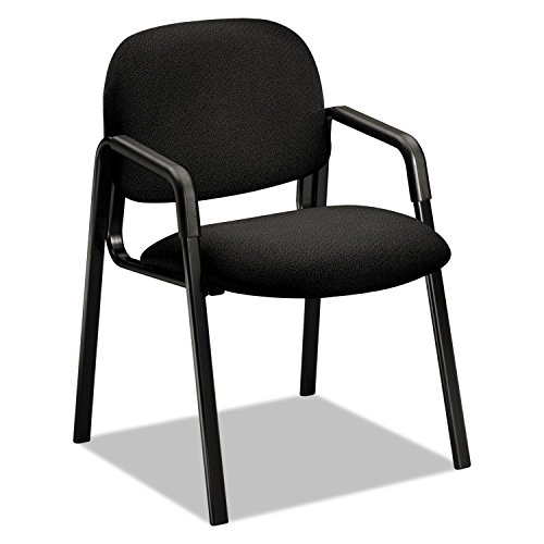 Solutions 4000 Series Seating Leg Base Guest Arm Chair, Black By: HON - Hon 4000 Series Solutions